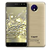 Unlocked Smartphone,5.0' IPS Screen Android 6.0 MTK6580A Quad Core 1.3G 1G+8G Dual Flash Light 3G Mobile Phone Cell Phone (Gold)