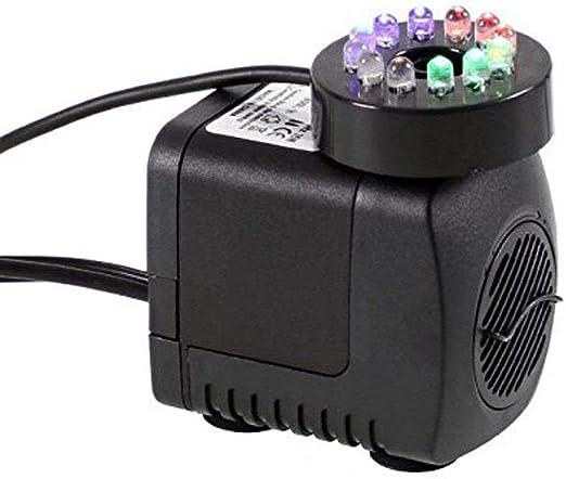 IRISH Bomba de agua sumergible con luz de 12 LED para la fuente de ...