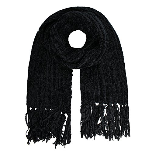 Charter Club Chenille Shaker Scarf, Black, One Size