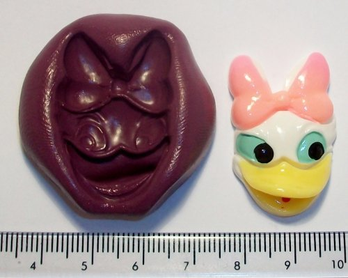 Silicone Mould Daisy Duck Icing Cake & Cupcake Topper, used for sale  Delivered anywhere in USA