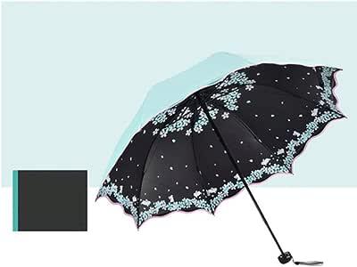 Erfhj Damen Taschenschirm Pop Vrouw UV Bescherming Weerbestendig Zonnemeisje Sonnenschirm Pocket Paraplu Meisje