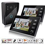 MicroMall 2.4G 7-Inch 2 Indoor monitor Outdoor camera TFT Wireless Video Door Phone Intercom Home Doorbell