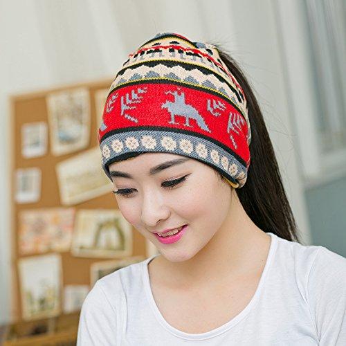 Pyrsun(TM) New Arrival Cute Deer style Women Beanies Knitted Winter Hats 2 Colors Hip-hop Flower Skullies Spring Cap Winter Gorro