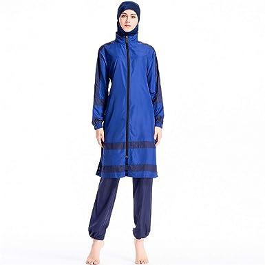 777d718ee50 Muslim Swimsuit Islamic Full Cover Modest Swimwear Beachwear Burkini 3  Pieces Full Body Hijab Swimwear Swimsuit