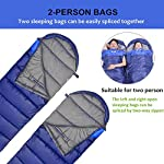 NACATIN Sleeping Bag For Adult Sleeping Bags Ultralight With Compression Sack Hand Free 10 To 15 Comfort For 3 Seasons Backpacking Hiking Camping