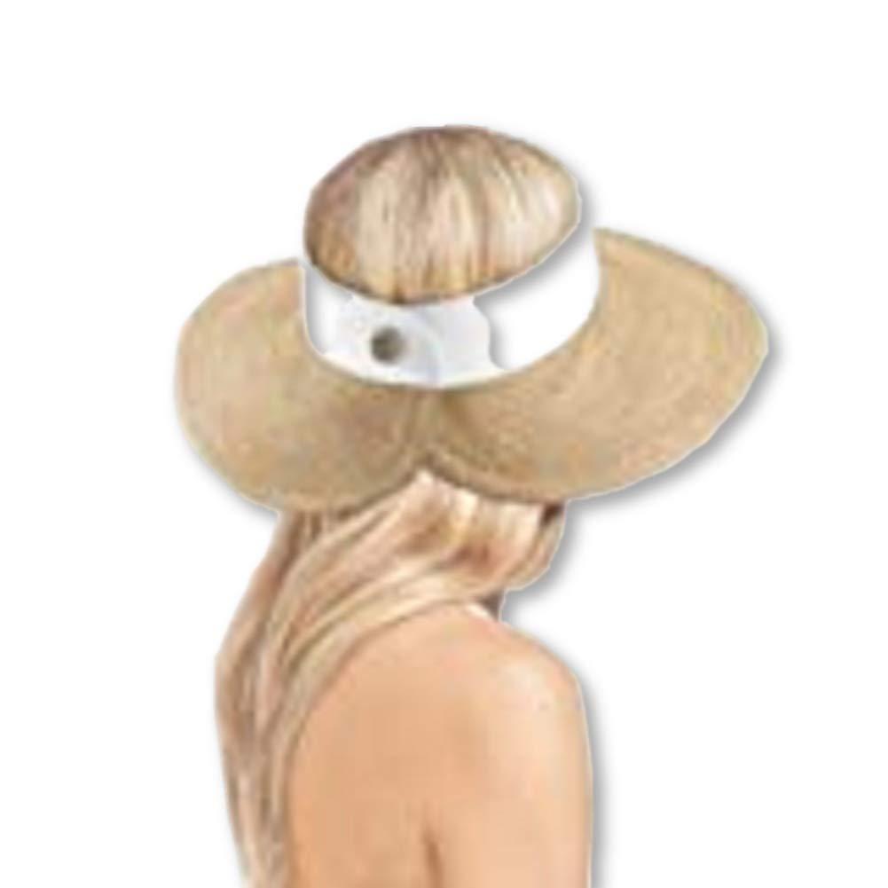 Eric Javits Halo Visor Hat 13301, Peanut/White