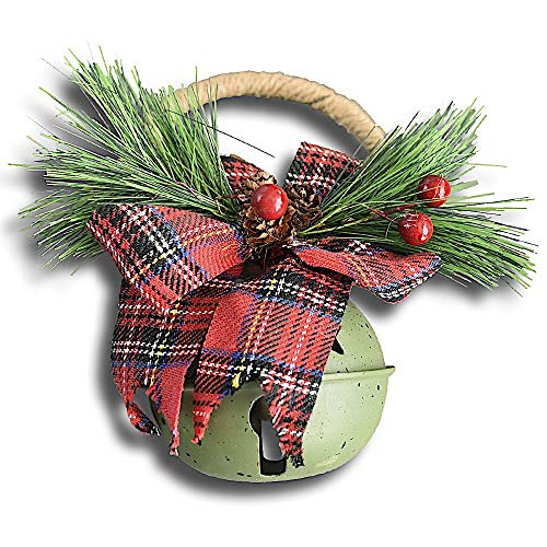 Quasimoon PaperLanternStore.com Blowout Large Green Country Jingle Bell Door Knob Hanger Christmas Holiday Decoration