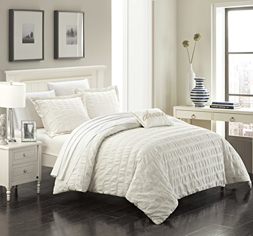 Chic Home 4 Piece Millbury 100% Cotton 200