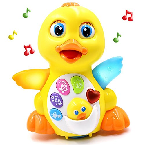 Fantastic Zone Musical Toys Duck Lights Action Kids Music Toys With Adjustable Sound, Toys for girls and boys kids or toddlers (Music Make Babies)