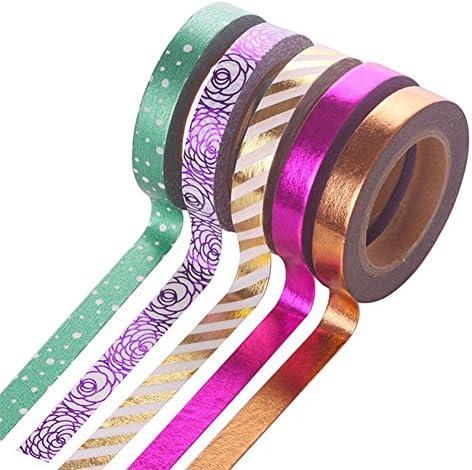Ruikey テープ 和紙テープ マスキングテープ カラフルテープ 5巻セット