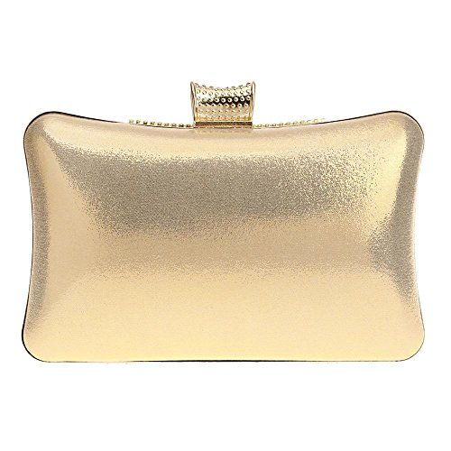 Seasons Rhinestone Gold Evening for with Polyester Bags Wedding Bag Event All Formal KYS Clutch Women Party IwzSzTa