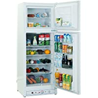 SMETA 9.4 cu ft Double Doors 110v/Gas Absorption Refrigerator and Freezer,White