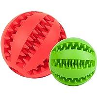 Amosfun Juguetes para Masticar Perros Juguete de masajes para Mascotas (Color al Azar) 2 Piezas