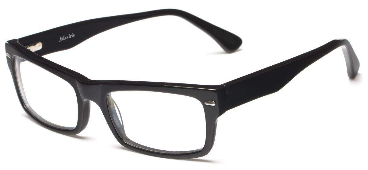 Readers.com Atwood by felix + iris Black Premium Acetate Thick-Rimmed Readers by felix + iris Retro Square Reading Glasses