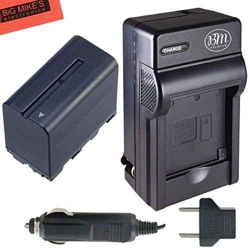 NP-F970 Battery and Battery Charger for Sony PXW-Z150, DC...
