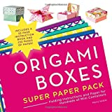 Origami Boxes Super Paper Pack: Folding Instructions and Paper for Hundreds of Mini Containers