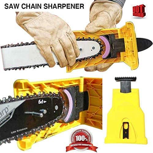 [해외]Zahuoo Chainsaw Teeth Sharpener Sharpens Chainsaw 16-20Inch Portable Sharpening Tool (Yellow) / Zahuoo Chainsaw Teeth Sharpener Sharpens Chainsaw 16-20Inch Portable Sharpening Tool (Yellow)