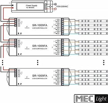 5 canali Led-Dimmer//Radio Telecomando 5-zone trasmettitore 869.5mhz sr-2833n-z5