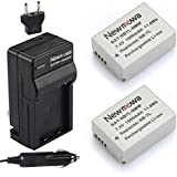 Newmowa NB-7L Battery (2-Pack) and Charger kit for Canon Powershot SX30 IS, G12, SX30IS, G11, G10, Cannon, CB-2LZ, NB7L