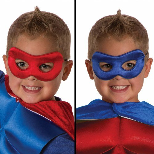 Little Adventures Superhero Costume Mask for Kids - Red/Royal