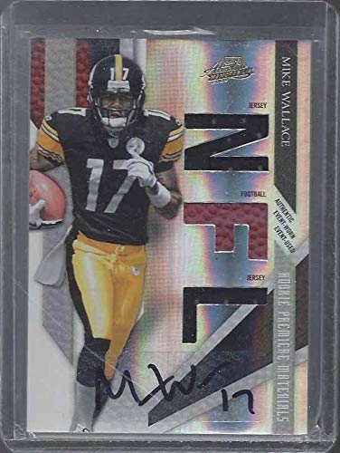 Signed Mike Wallace Jersey - 2009 Panini Playoff Absolute Rpm Ball Rc #d 277 299 - Panini Certified - NFL Autographed Football Cards