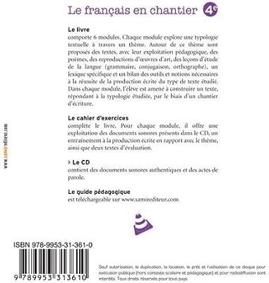 Cd 4e Le Français En Chantier 4e Amazones Aoun