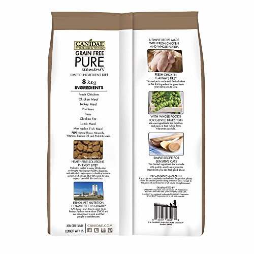 Picture of Canidae Grain Free Pure Elements Cat Dry Formula With Fresh Chicken, 10 Lbs