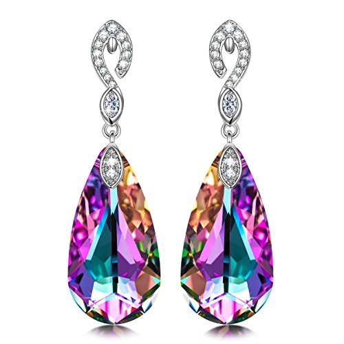 Kate Lynn Earrings for Women Gifts Crystals Hypoallergenic Mermaid Earrings Jewelry for Her anniversary Gifts for ()