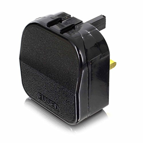 121av 2 Pin Euro Plug To 3 Pin Uk Mains Adapter Open Top Type