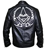 Angels and Airwaves Love Tom Delonge Sheep Leather Jacket,3XL.