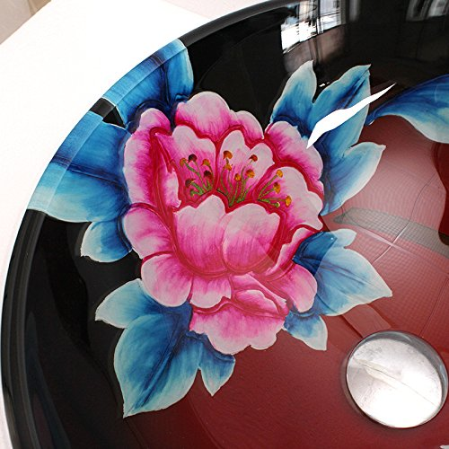 BL- Bathroom basin/sink/basin on the art (42014512mm) , basin + faucet and accessories 50%OFF