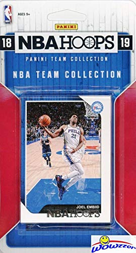 Philadelphia 76ers 2018/2019 Panini Hoops NBA Basketball EXCLUSIVE Factory Sealed limited Edition 12 Card Team Set with Ben Simmons, Joel Embiid, JJ Redick, Landry Shamet Rookie & More! WOWZZER