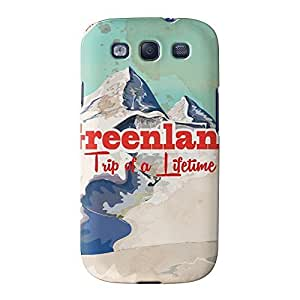 Greenland Full Wrap High Quality 3D Printed Case for Samsung? Galaxy S3 by Nick Greenaway + FREE Crystal Clear Screen Protector