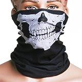 NeDonald Skull Multi Use Head Wear Hat Scarf Face Mask Motorcycle Cap