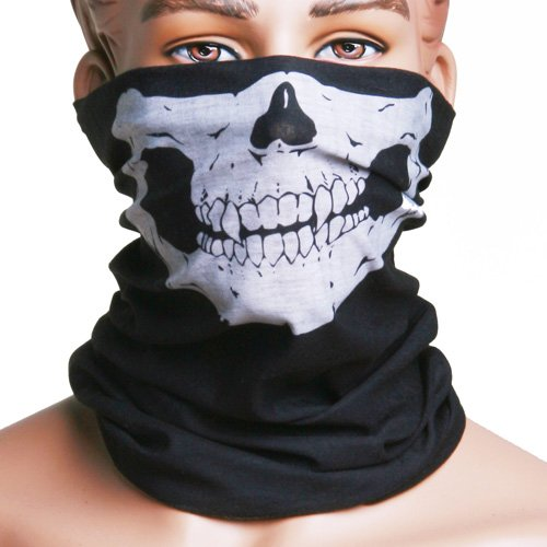 NeDonald Skull Multi Use Head Wear Hat Scarf Face Mask Motorcycle Cap
