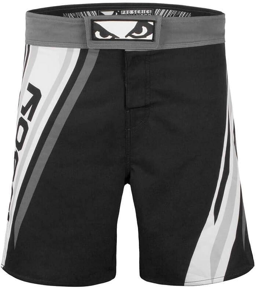 Bad Boy MMA Shorts Pro Series for Jiu Jitsu No Gi /& Muay Thai White or Black