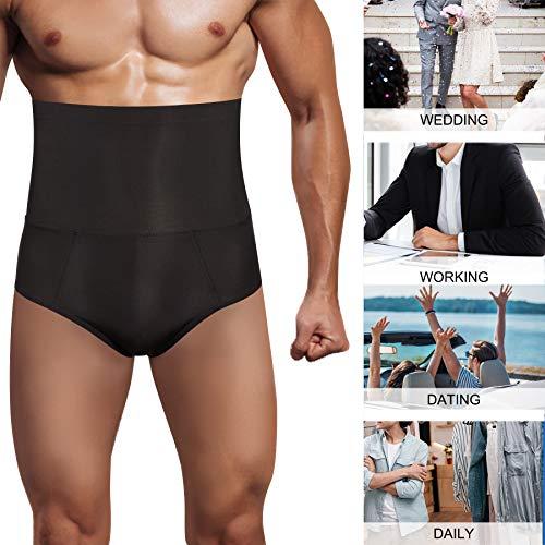 78ab22983f TAILONG Men Tummy Shaper Briefs High Waist Body Slimmer Underwear Firm Control  Belly Girdle Abdomen Compression