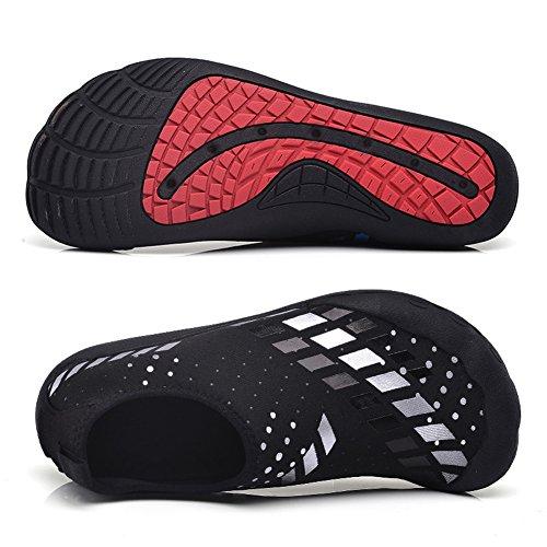 CIOR FANTINY Herren Wasser Schuhe Outdoor Sport Slip On Sneakers 14 Löcher Drainage System Quick Dry und Multifunktional L.weiß