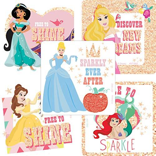 Disney Princess Dare to Sparkle Glitter Stickers - Toys 50 per Pack