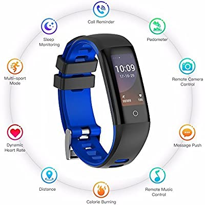 Teamyo Fitness Tracker Watch, Activity Tracker Watch Smart Bracelet with Heart Rate Blood Pressure Monitor, Color Screen with Step Counter Pedometer Watch,IP67 Waterproof Smart Band Purple