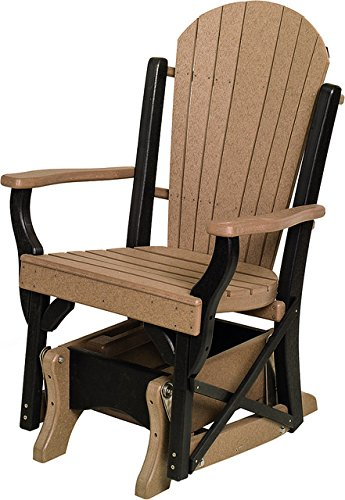 Furniture Barn Poly Lumber Fanback Style Single Glider in...