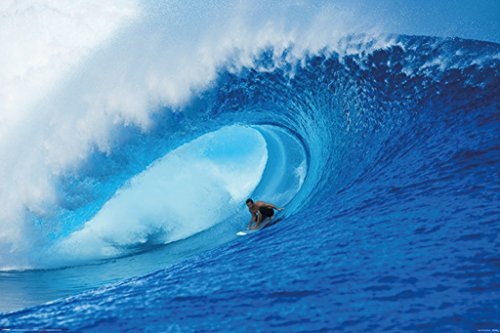 (Pyramid America Riding The Wave Surfing Photo Art Print Poster 36x24 Inch )