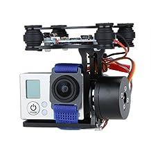 RoboJax Black Metal Camera Gimbal for Gopro for drone quadcopter or hexacopter or DJI phantom (Black)