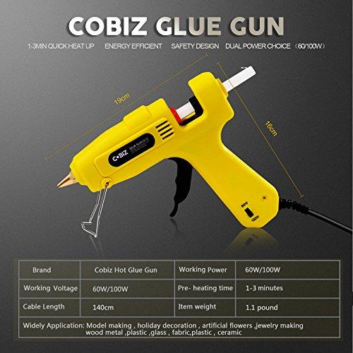 Glue-Gun-Cobiz-Full-Size-Not-Mini-60100W-Dual-Power-High-Temp-Hot-Melt-Glue-Gun-with-10-Pcs-Premium-Glue-Gun-Sticks716-x-8-for-Industrial-Home-Arts-Crafts-Use
