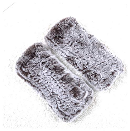 Gloves Women's Knitted Rex Rabbit Fur Winter Fingerless Gloves Mittens Arm Sleeve