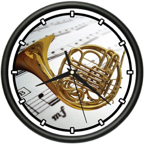 Wall French Horn - FRENCH HORN Wall Clock band music brass orchestra gift