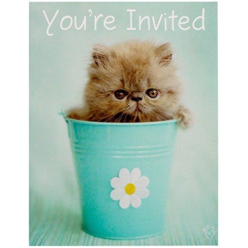 - BirthdayExpress Rachael Hale Glamour Cats Party Supplies - Invitations (8)