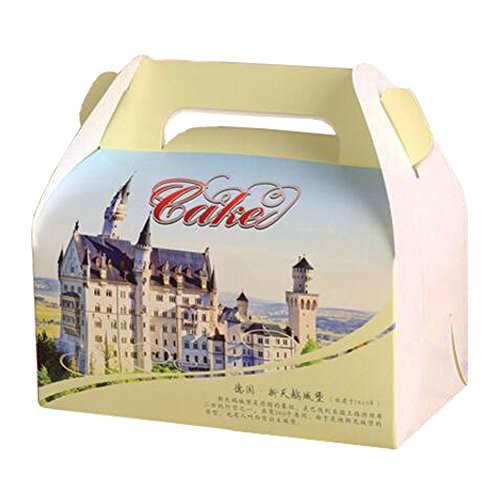 100PCS Cute Boxes With Handle For Pack Candies,Cake,OtherGift,in Party,Birthdays,and other Events,#2 by Kylin Express