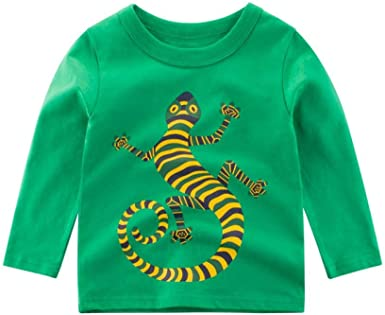 Niños Camisetas De Manga Larga Algodón Estampado Camaleón ...