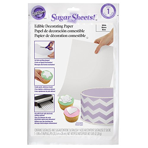 Wilton White Sugar Sheets Edible Decorating Paper - 0.85 oz. - Cake Decorating Supplies]()